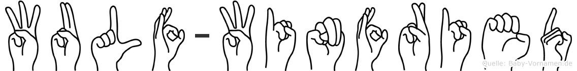 Wulf-Winfried im Fingeralphabet der Deutschen Gebärdensprache