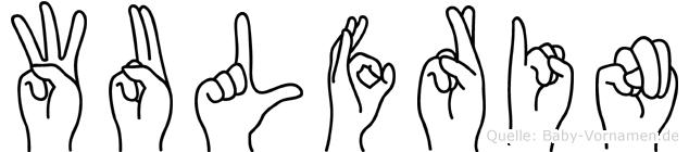Wulfrin im Fingeralphabet der Deutschen Gebärdensprache