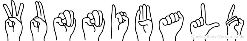Wunnibald im Fingeralphabet der Deutschen Gebärdensprache