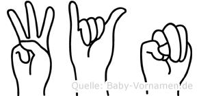 Wyn im Fingeralphabet der Deutschen Gebärdensprache