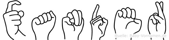 Xander in Fingersprache für Gehörlose