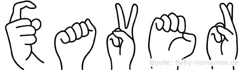 Xaver in Fingersprache für Gehörlose