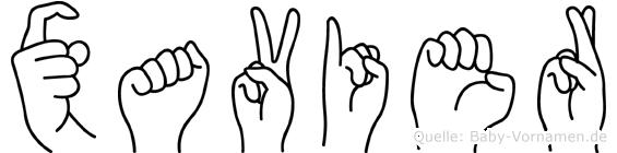 Xavier in Fingersprache für Gehörlose