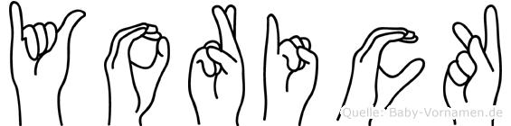 Yorick in Fingersprache für Gehörlose