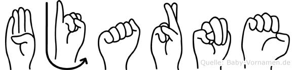 Bjarne im Fingeralphabet der Deutschen Gebärdensprache