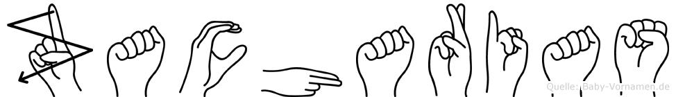 Zacharias im Fingeralphabet der Deutschen Gebärdensprache