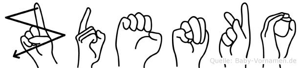 Zdenko im Fingeralphabet der Deutschen Gebärdensprache