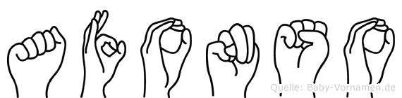 Afonso im Fingeralphabet der Deutschen Gebärdensprache