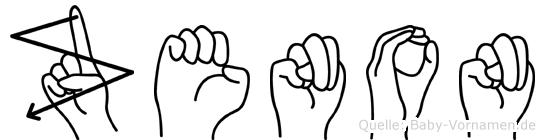 Zenon im Fingeralphabet der Deutschen Gebärdensprache