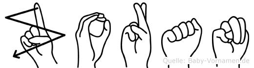 Zoran im Fingeralphabet der Deutschen Gebärdensprache