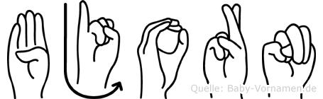 Bjorn in Fingersprache für Gehörlose