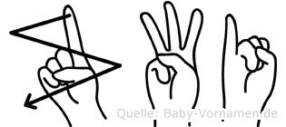 Zwi in Fingersprache für Gehörlose