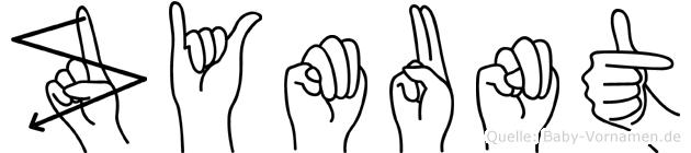 Zymunt im Fingeralphabet der Deutschen Gebärdensprache