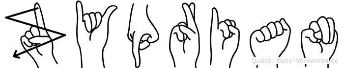Zyprian in Fingersprache für Gehörlose