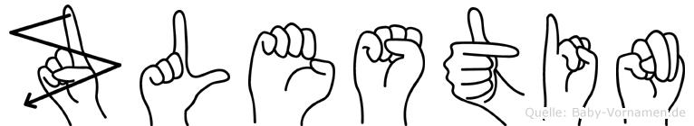Zölestin im Fingeralphabet der Deutschen Gebärdensprache