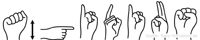 Ägidius in Fingersprache für Gehörlose