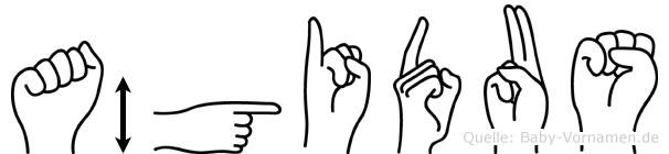 Ägidus im Fingeralphabet der Deutschen Gebärdensprache