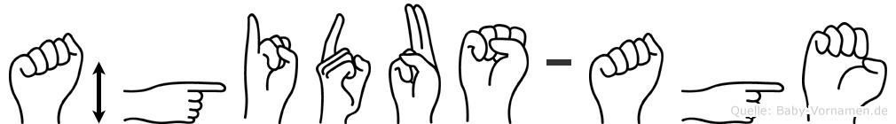 Ägidus-Age im Fingeralphabet der Deutschen Gebärdensprache