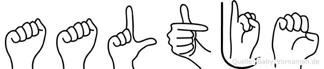 Aaltje in Fingersprache für Gehörlose