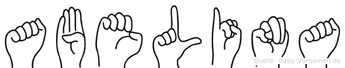 Abelina im Fingeralphabet der Deutschen Gebärdensprache