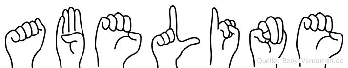 Abeline im Fingeralphabet der Deutschen Gebärdensprache