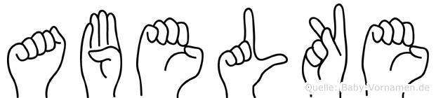 Abelke im Fingeralphabet der Deutschen Gebärdensprache