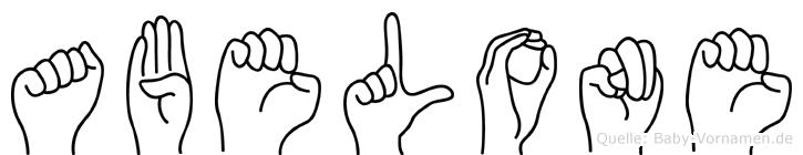 Abelone im Fingeralphabet der Deutschen Gebärdensprache