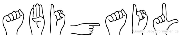 Abigail in Fingersprache für Gehörlose