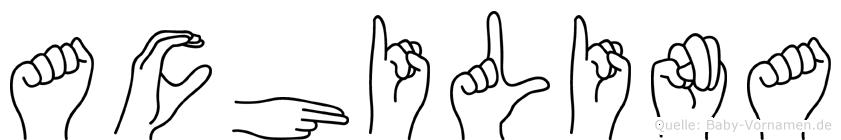 Achilina in Fingersprache für Gehörlose
