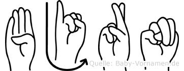 Björn im Fingeralphabet der Deutschen Gebärdensprache