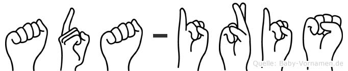 Ada-Iris im Fingeralphabet der Deutschen Gebärdensprache