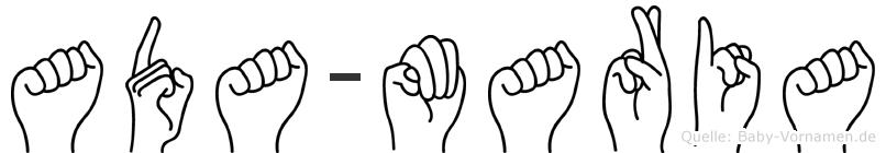 Ada-Maria im Fingeralphabet der Deutschen Gebärdensprache