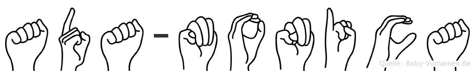 Ada-Monica im Fingeralphabet der Deutschen Gebärdensprache