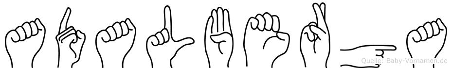 Adalberga im Fingeralphabet der Deutschen Gebärdensprache