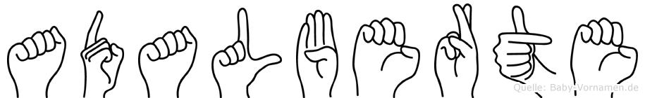Adalberte im Fingeralphabet der Deutschen Gebärdensprache