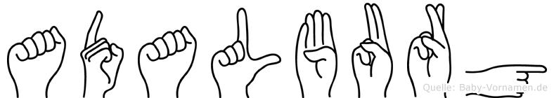 Adalburg in Fingersprache für Gehörlose