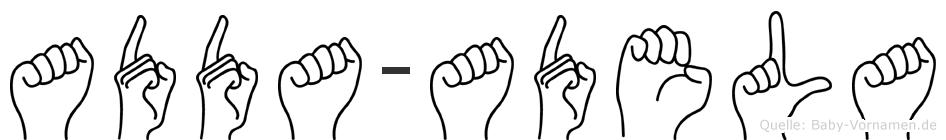 Adda-Adela im Fingeralphabet der Deutschen Gebärdensprache