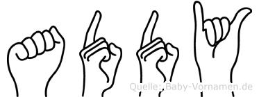 Addy in Fingersprache für Gehörlose