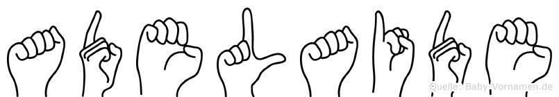 Adelaide in Fingersprache für Gehörlose