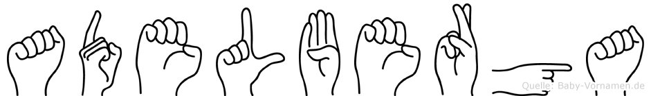 Adelberga im Fingeralphabet der Deutschen Gebärdensprache