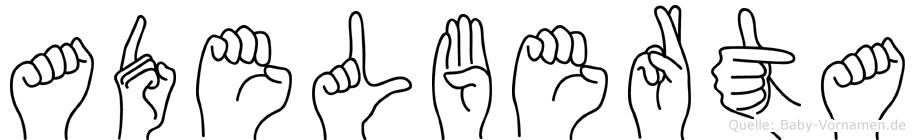 Adelberta in Fingersprache für Gehörlose