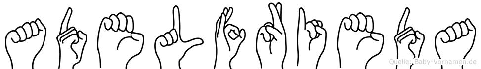 Adelfrieda in Fingersprache für Gehörlose