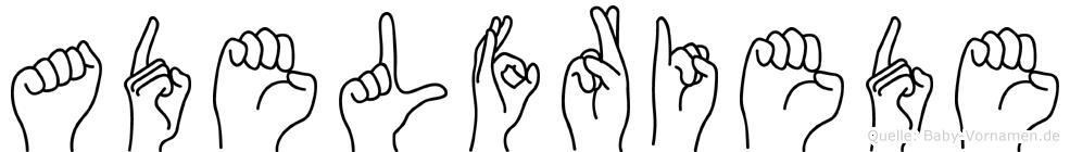 Adelfriede in Fingersprache für Gehörlose