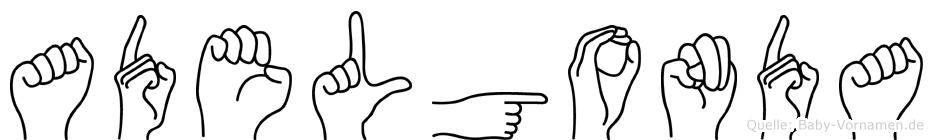 Adelgonda in Fingersprache für Gehörlose