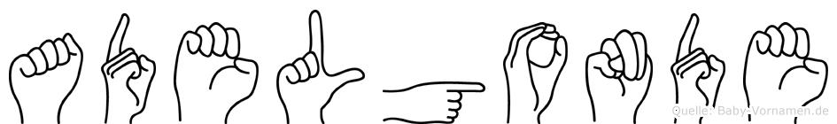 Adelgonde in Fingersprache für Gehörlose