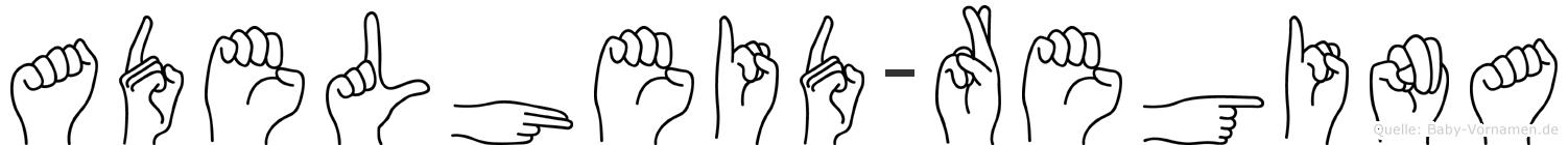 Adelheid-Regina im Fingeralphabet der Deutschen Gebärdensprache