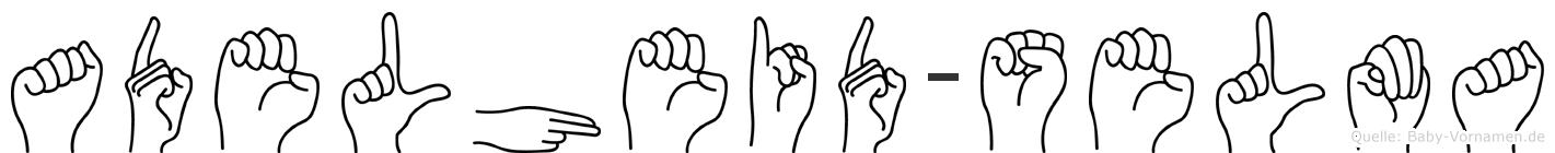 Adelheid-Selma im Fingeralphabet der Deutschen Gebärdensprache