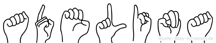 Adelina in Fingersprache für Gehörlose