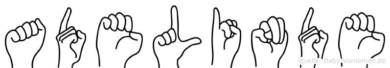 Adelinde in Fingersprache für Gehörlose