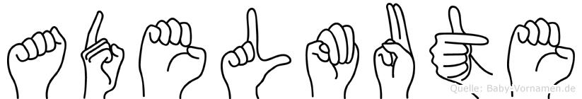 Adelmute im Fingeralphabet der Deutschen Gebärdensprache